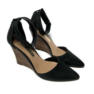 Audrey Brooke 7 1/2 Esther Leather Pointed Wedge